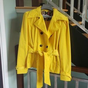 Black Rivet yellow trench coat XL